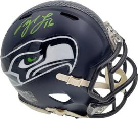 Tyler Lockett Autographed Seattle Seahawks Speed Mini Helmet In Green MCS Holo Stock #182259