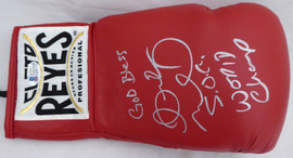 "Andre Ward Autographed Red Reyes Boxing Glove ""God Bless, S.O.G. & World Champ"" RH Beckett BAS Stock #182284"