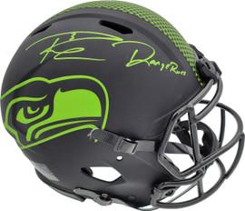 "Russell Wilson Autographed Seattle Seahawks Eclipse Black Full Size Speed Authentic Helmet ""DangeRuss"" LE #/12 RW Holo & Beckett BAS Stock #182293"