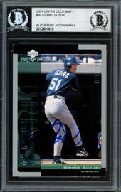 Ichiro Suzuki Autographed 2001 Upper Deck MVP Rookie Card #60 Seattle Mariners Beckett BAS #12491610