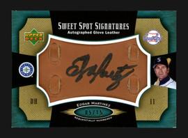 Edgar Martinez Autographed 2005 Upper Deck Sweet Spot Signatures Card #SS-EM Seattle Mariners #5/15 Auto Glove Card SKU #182662