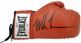 Mike Tyson Autographed Red Everlast Boxing Glove RH Signed In Black Beckett BAS Stock #182689