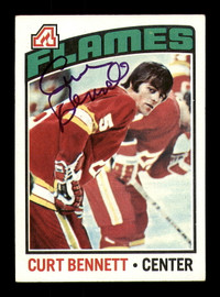 Curt Bennett Autographed 1976-77 Topps Card #202 Atlanta Flames SKU #183105