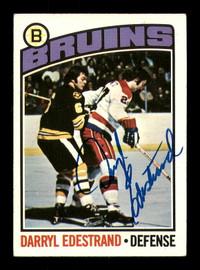 Darryl Edestrand Autographed 1976-77 Topps Card #179 Boston Bruins SKU #183115