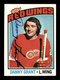 Danny Grant Autographed 1976-77 Topps Card #16 Detroit Red Wings SKU #183121