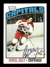Greg Joly Autographed 1976-77 Topps Card #52 Washington Capitals SKU #183126
