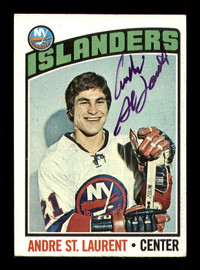 Andre St. Laurent Autographed 1976-77 Topps Card #29 New York Islanders SKU #183161