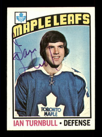Ian Turnbull Autographed 1976-77 Topps Card #97 Montreal Canadiens SKU #183166
