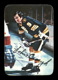 John Johnny Bucyk Autographed 1976-77 Topps Glossy Card #14 Boston Bruins SKU #183175