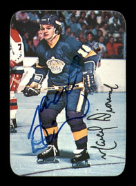 Marcel Dionne Autographed 1976-77 Topps Glossy Card #4 Los Angeles Kings SKU #183177