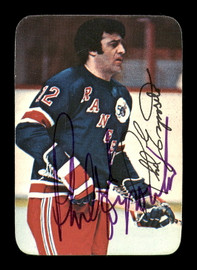 Phil Esposito Autographed 1976-77 Topps Glossy Card #7 New York Rangers SKU #183178