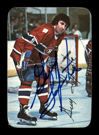 Guy Lapointe Autographed 1976-77 Topps Glossy Card #17 Montreal Canadiens SKU #183182