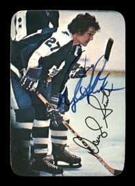 Darryl Sittler Autographed 1976-77 Topps Glossy Card #8 Toronto Maple Leafs SKU #183185