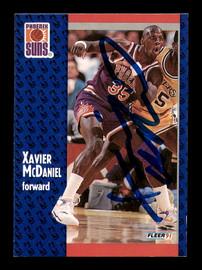Xavier McDaniel Autographed 1991-92 Fleer Card #164 Phoenix Suns SKU #183283
