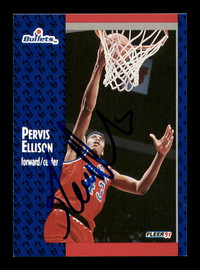 Pervis Ellison Autographed 1991-92 Fleer Card #205 Washington Bullets SKU #183324