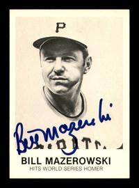 Bill Mazeroski Autographed 1984 Renata Galasso Card #261 Pittsburgh Pirates SKU #183351