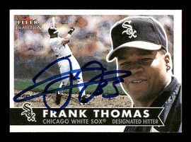 Frank Thomas Autographed 2001 Fleer Tradition Card #263 Chicago White Sox SKU #183377