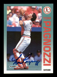 Tom Pagnozzi Autographed 1992 Fleer Card #586 St. Louis Cardinals SKU #183552