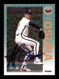 Al Osuna Autographed 1992 Fleer Card #442 Houston Astros SKU #183557