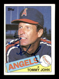 Tommy John Autographed 1985 Topps Card #179 California Angels SKU #183691