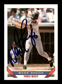 Wade Boggs Autographed 1993 Topps Card #390 Boston Red Sox SKU #183790