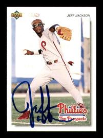 Jeff Jackson Autographed 1992 Upper Deck Minor League Rookie Card #301 Philadelphia Phillies SKU #184220