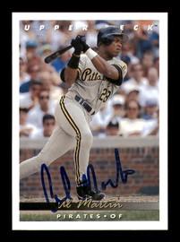 Al Martin Autographed 1993 Upper Deck Card #340 Pittsburgh Pirates SKU #184314