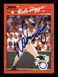 Wade Boggs Autographed 1990 Donruss Card #712 Boston Red Sox SKU #184427