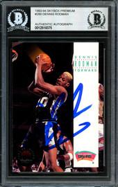 Dennis Rodman Autographed 1993-94 Skybox Card #280 San Antonio Spurs Signed In Blue Beckett BAS #12518375