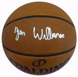 Zion Williamson Autographed Official Leather NBA Basketball New Orleans Pelicans Fanatics Holo Stock #185090