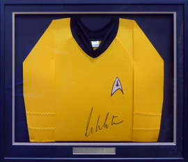 William Shatner Autographed Framed Star Trek Uniform Shirt JSA Stock #185077