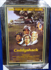 Chevy Chase Autographed Framed 24x36 Caddyshack Movie Poster PSA/DNA Stock #185085