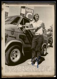 Dick Bosman Autographed 8x11 AP Photo Cleveland Indians SKU #185497