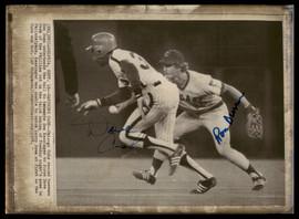 Dave Cash & Ron Dunn Autographed 8x11 AP Photo SKU #185500