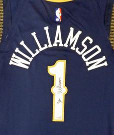 New Orleans Pelicans Zion Williamson Autographed Authentic Blue Nike Jersey Size 48 Fanatics Holo Stock #185354