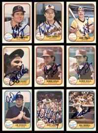 1981-1987 Fleer Baseball Autographed Cards Lot Of 87 SKU #185536
