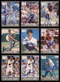 1991 Fleer Ultra Baseball Autographed Cards Lot Of 54 SKU #185541