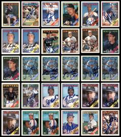 1988 Topps Baseball Autographed Cards Lot Of 112 SKU #185552