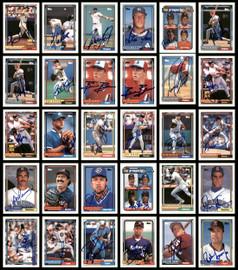 1992 Topps Baseball Autographed Cards Lot Of 114 SKU #185556
