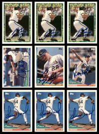 1994 Topps Baseball Autographed Cards Lot Of 42 SKU #185558