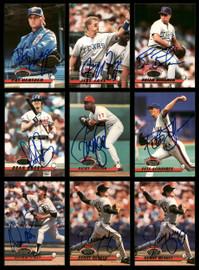 1993 Topps Stadium Club Baseball Autographed Cards Lot Of 35 SKU #185561