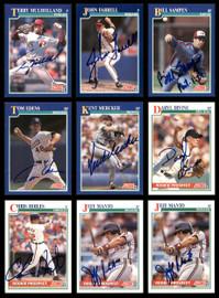 1991 Score Baseball Autographed Cards Lot Of 34 SKU #185565