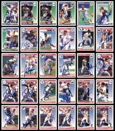 1992 Score Baseball Autographed Cards Lot Of 128 SKU #185566