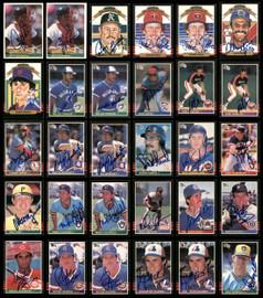1984-1986 Donruss Baseball Autographed Cards Lot Of 117 SKU #185578