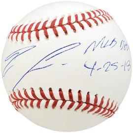 "Ronald Acuna Jr. Autographed Official MLB Baseball Atlanta Braves ""MLB Debut 4-25-18"" Beckett BAS Stock #185594"