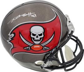 Antonio Brown Autographed Tampa Bay Buccaneers Full Size Replica Helmet Beckett BAS Stock #185598