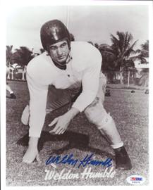 Weldon Humble Autographed 8x10 Photo Cleveland Browns PSA/DNA #S35270