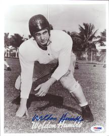 Weldon Humble Autographed 8x10 Photo Cleveland Browns PSA/DNA #S35271