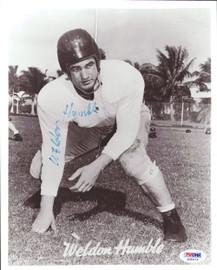 Weldon Humble Autographed 8x10 Photo Cleveland Browns PSA/DNA #S35273