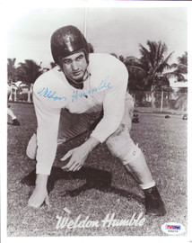Weldon Humble Autographed 8x10 Photo Cleveland Browns PSA/DNA #S35274
